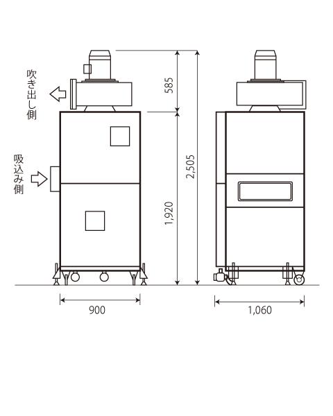 azumaの集塵機は火災にならない湿式集塵機